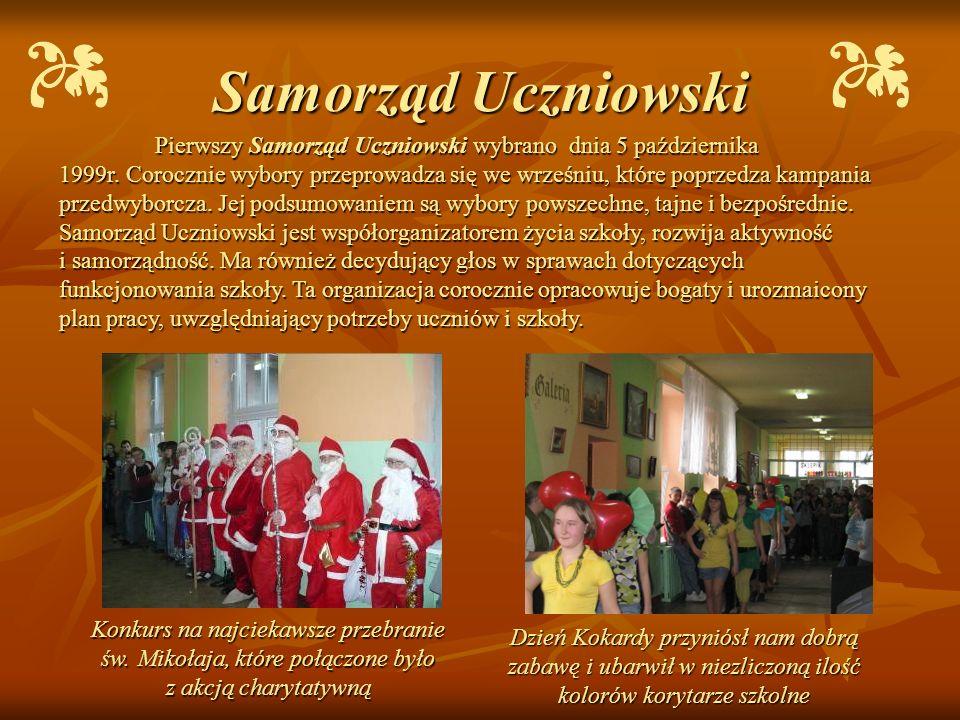 Samorząd Uczniowski Pierwszy Samorząd Uczniowski wybrano dnia 5 października.
