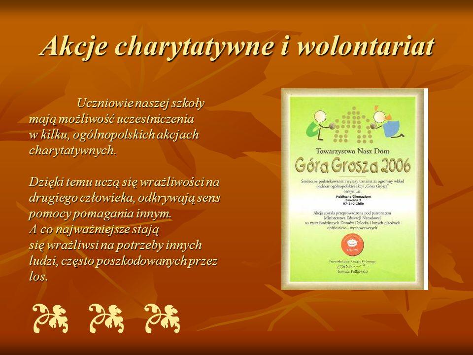 Akcje charytatywne i wolontariat