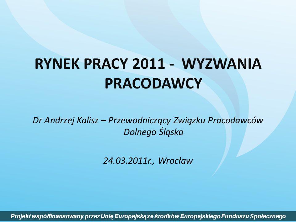 RYNEK PRACY 2011 - WYZWANIA PRACODAWCY