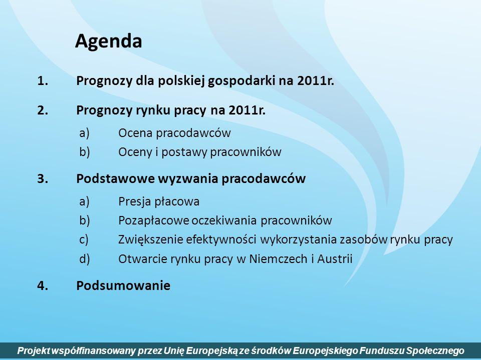 Agenda Prognozy dla polskiej gospodarki na 2011r.