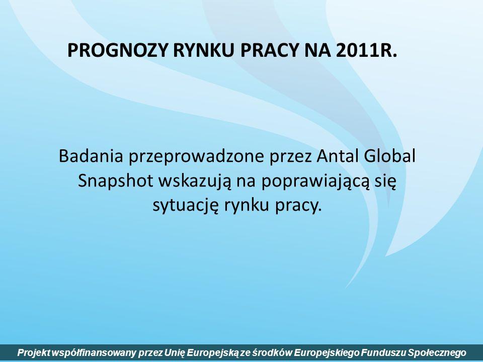 PROGNOZY RYNKU PRACY NA 2011R.