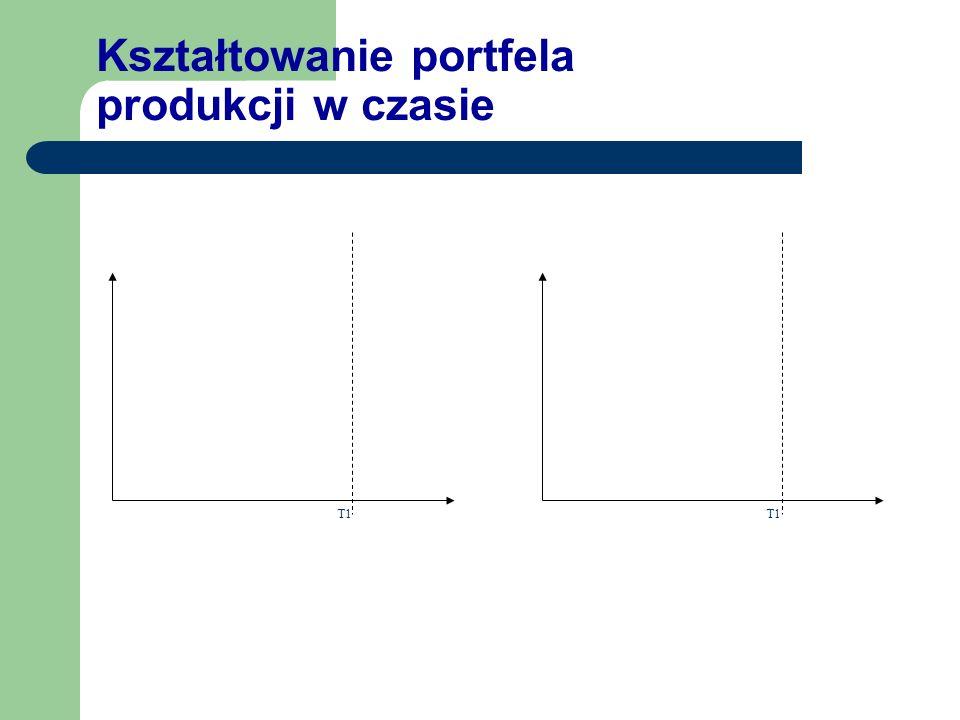 Kształtowanie portfela produkcji w czasie