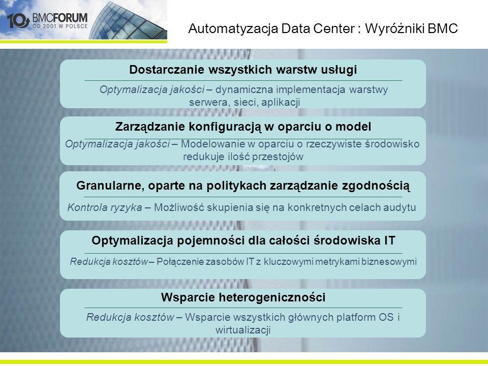 Automatyzacja Data Center : Wyróżniki BMC