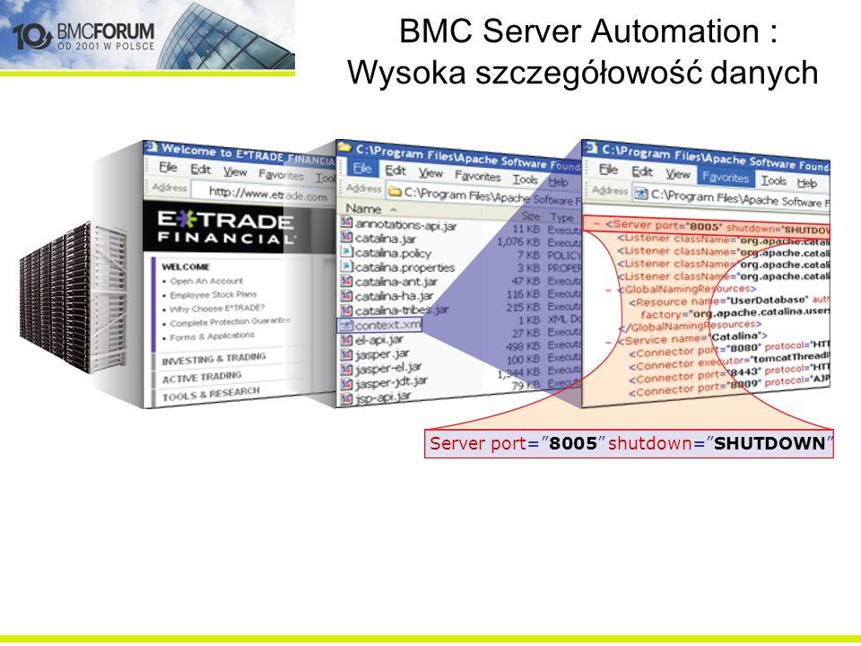 BMC Server Automation : Wysoka szczegółowość danych