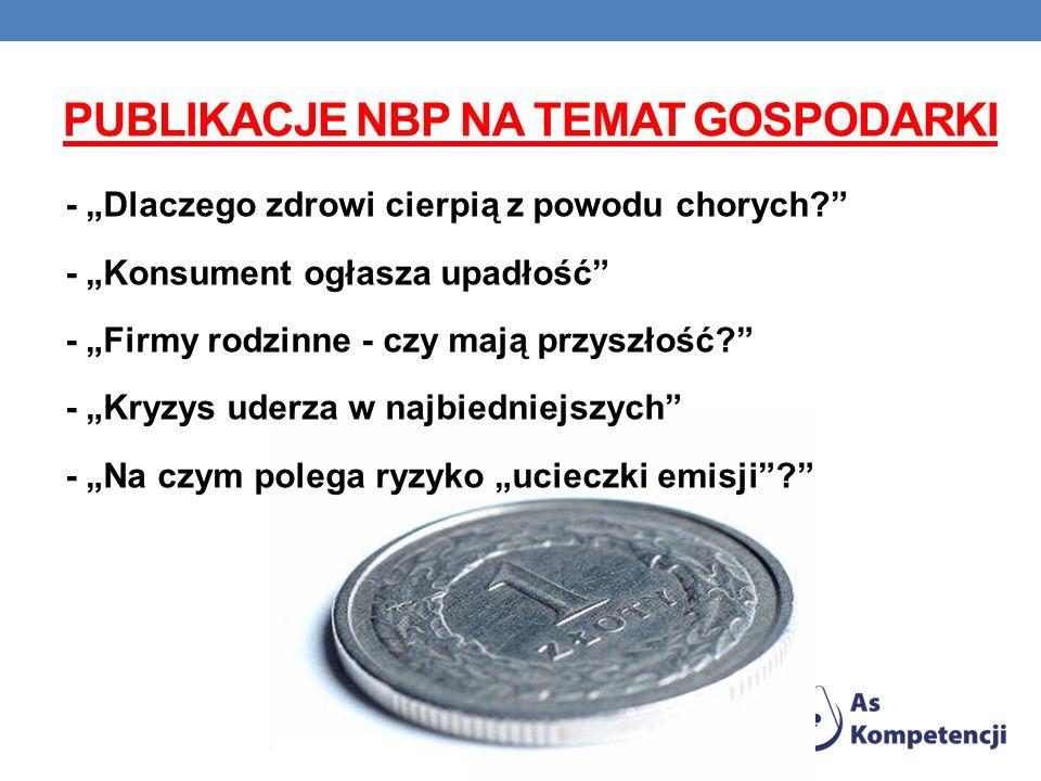 Publikacje NBP na temat gospodarki