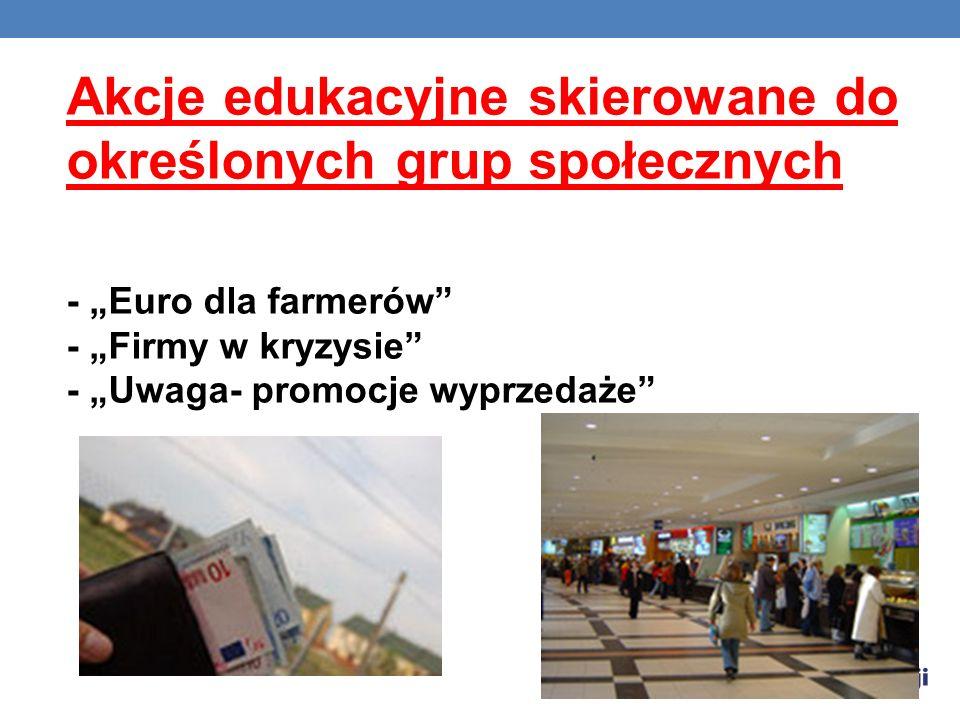 Akcje edukacyjne skierowane do określonych grup społecznych