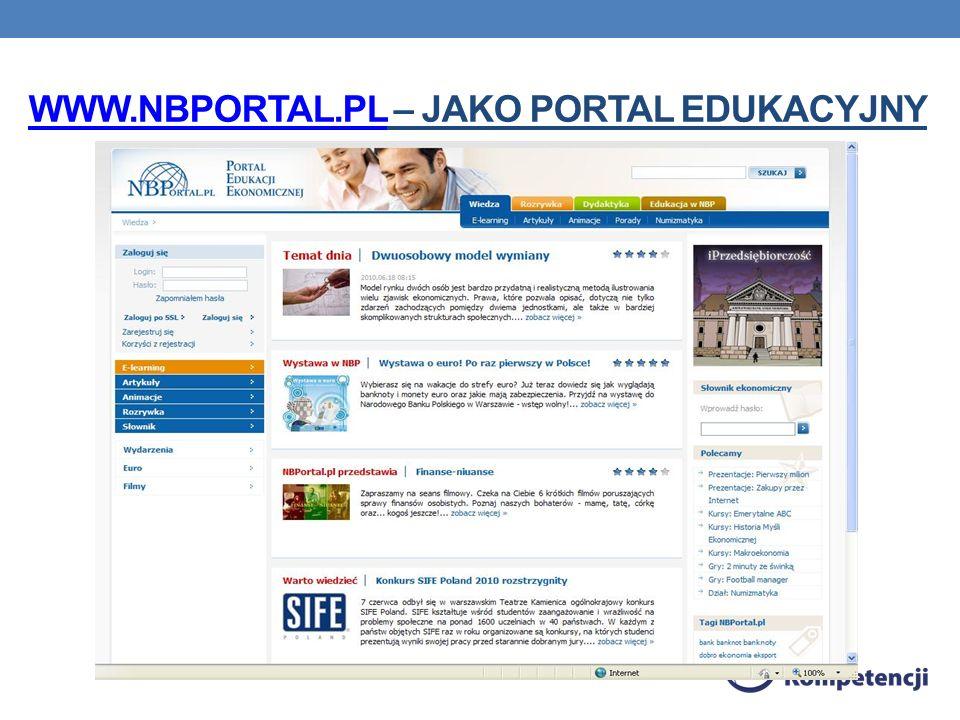 WWW.NBPORTAL.PL – Jako portal edukacyjny