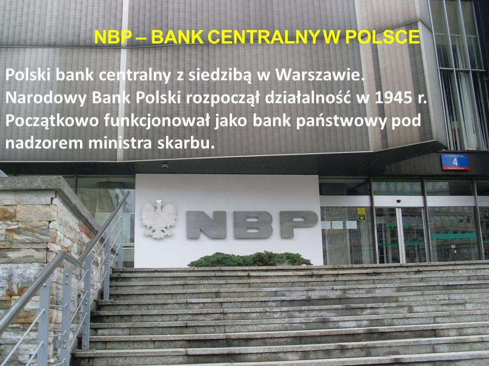 NBP – bank centralny w polsce