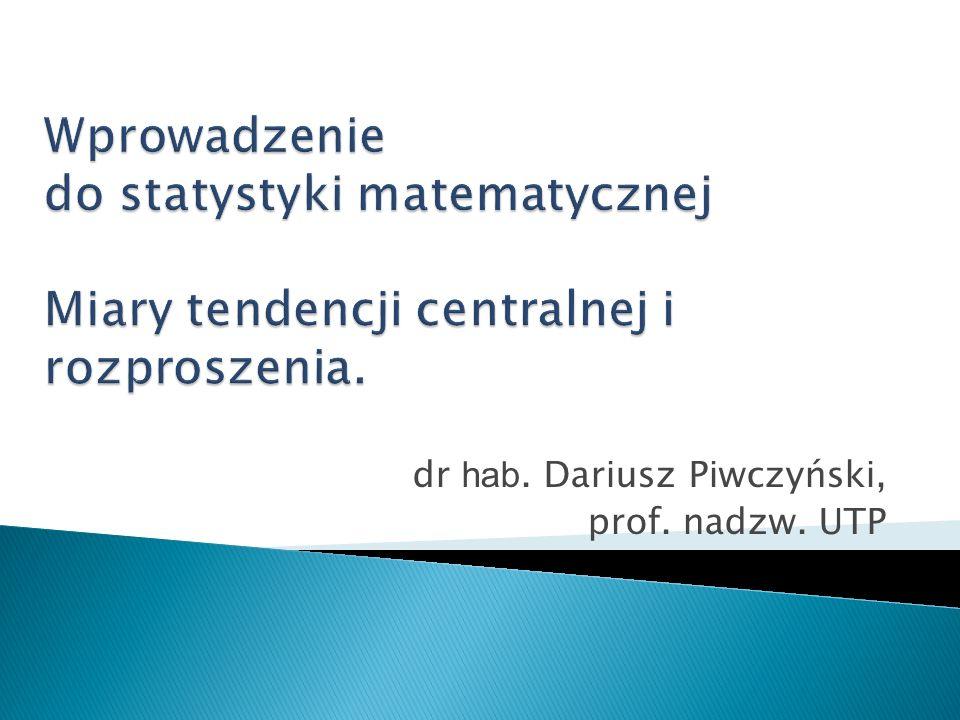dr hab. Dariusz Piwczyński, prof. nadzw. UTP