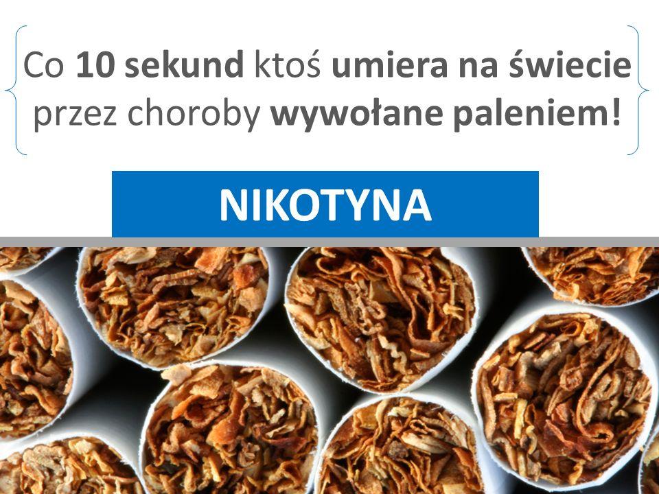 nikotyna Co 10 sekund ktoś umiera na świecie