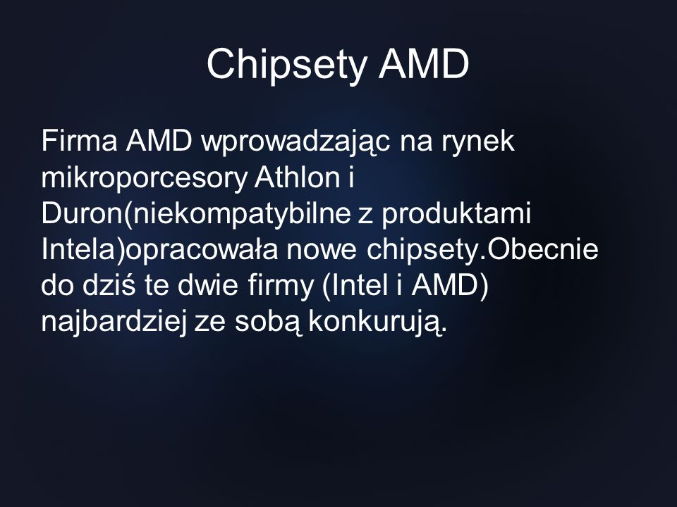 Chipsety AMD