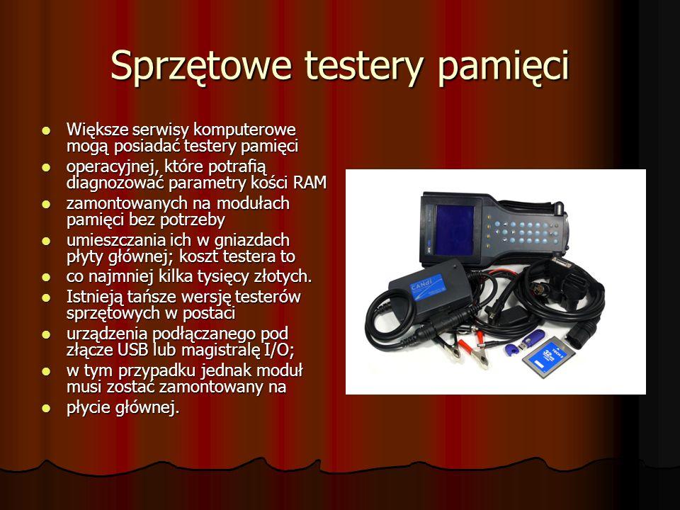Sprzętowe testery pamięci