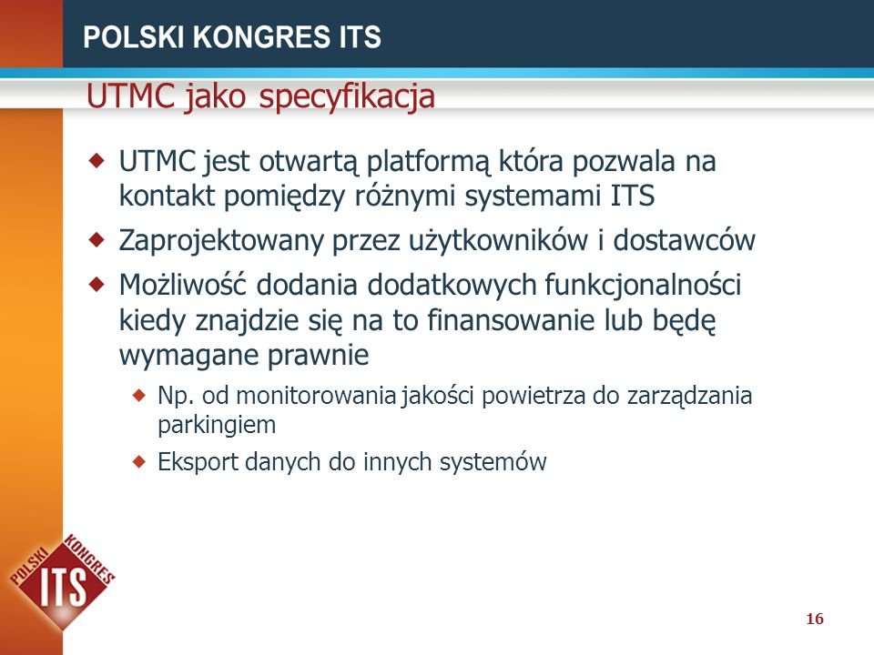 UTMC jako specyfikacja