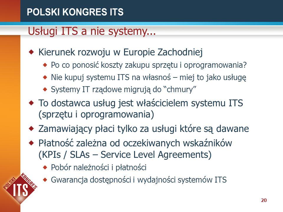 Usługi ITS a nie systemy...