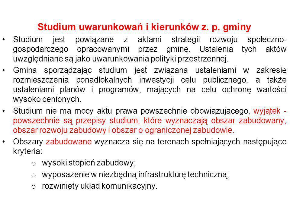 Studium uwarunkowań i kierunków z. p. gminy