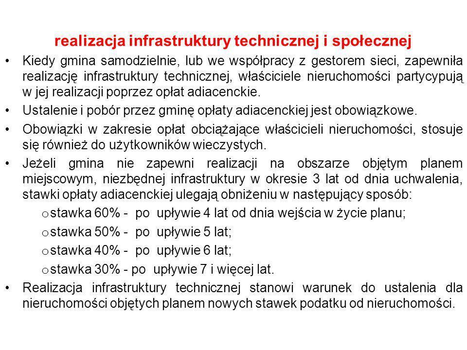 realizacja infrastruktury technicznej i społecznej