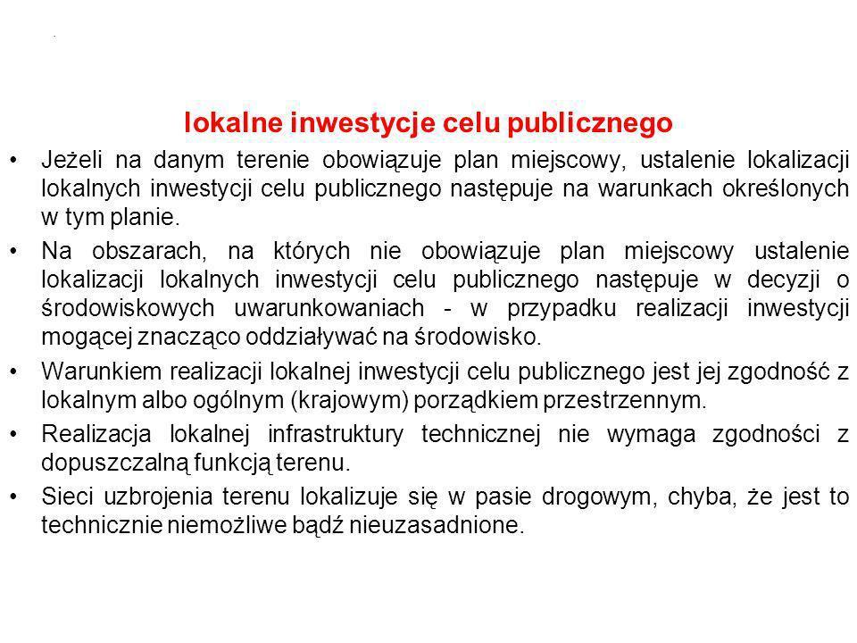 lokalne inwestycje celu publicznego