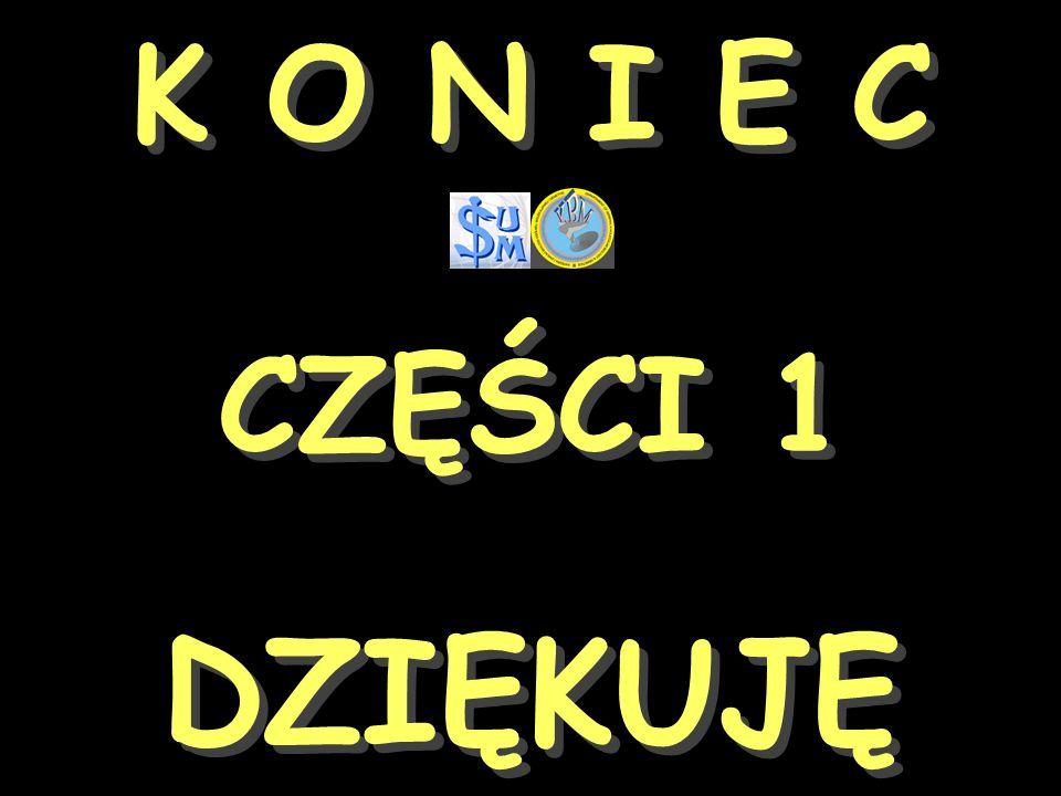K O N I E C CZĘŚCI 1 DZIĘKUJĘ