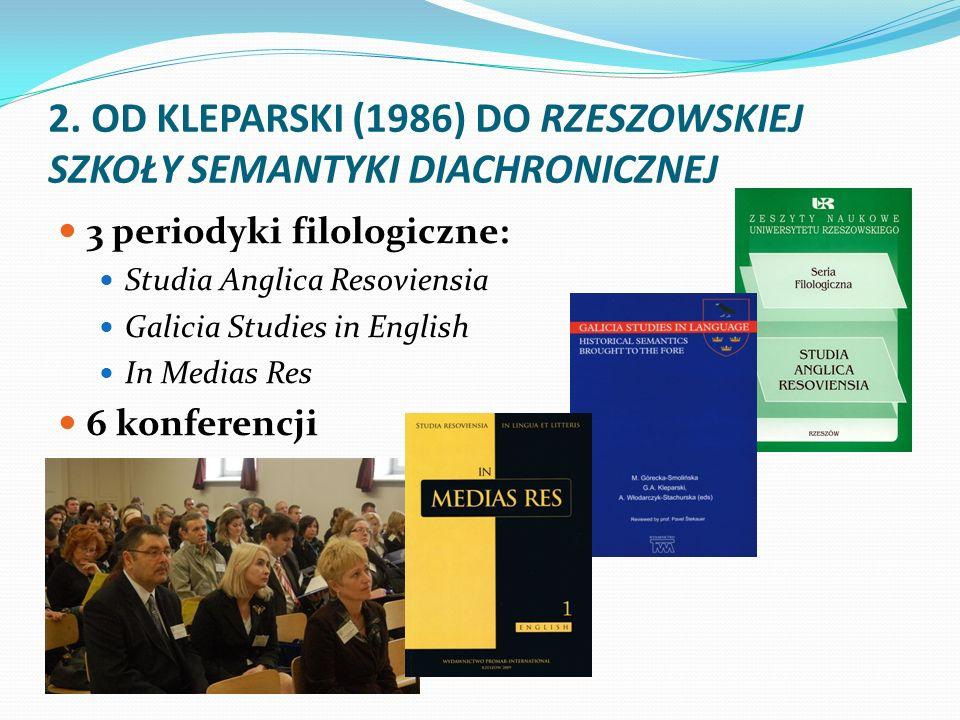 2. OD KLEPARSKI (1986) DO RZESZOWSKIEJ SZKOŁY SEMANTYKI DIACHRONICZNEJ