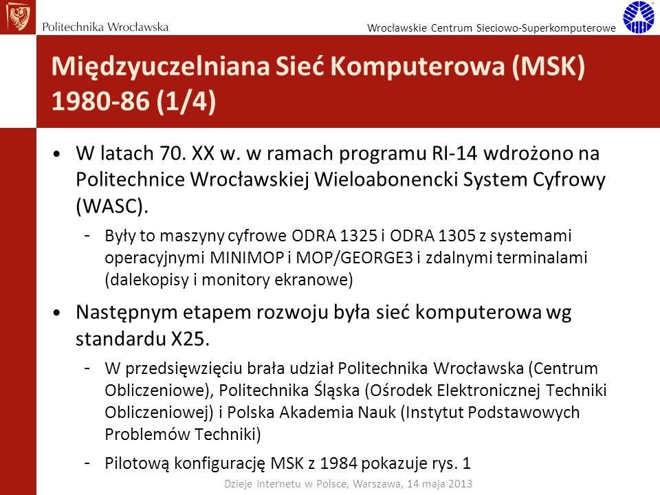 Międzyuczelniana Sieć Komputerowa (MSK) 1980-86 (1/4)
