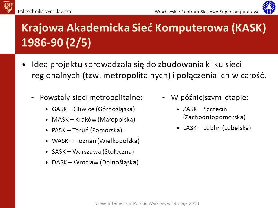 Krajowa Akademicka Sieć Komputerowa (KASK) 1986-90 (2/5)