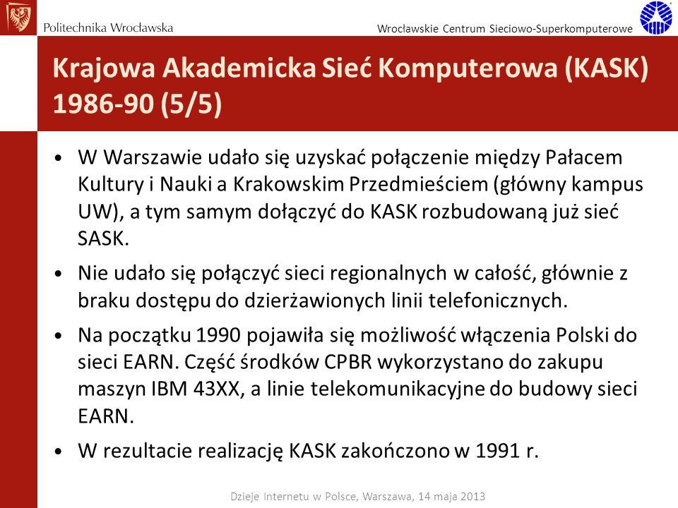 Krajowa Akademicka Sieć Komputerowa (KASK) 1986-90 (5/5)