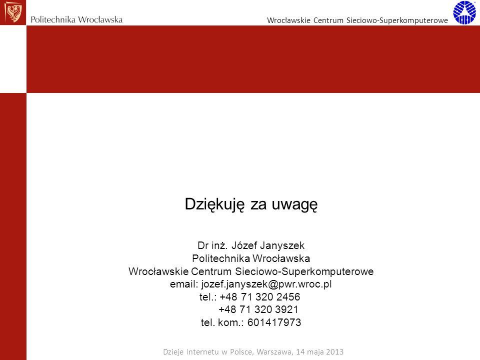 Dziękuję za uwagę Dr inż. Józef Janyszek