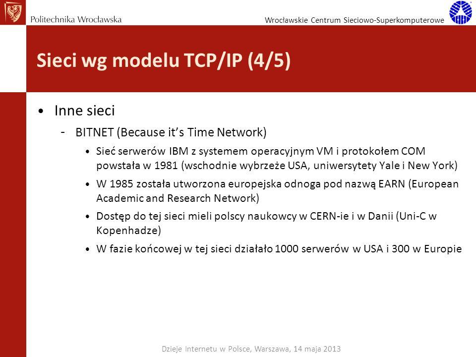 Sieci wg modelu TCP/IP (4/5)
