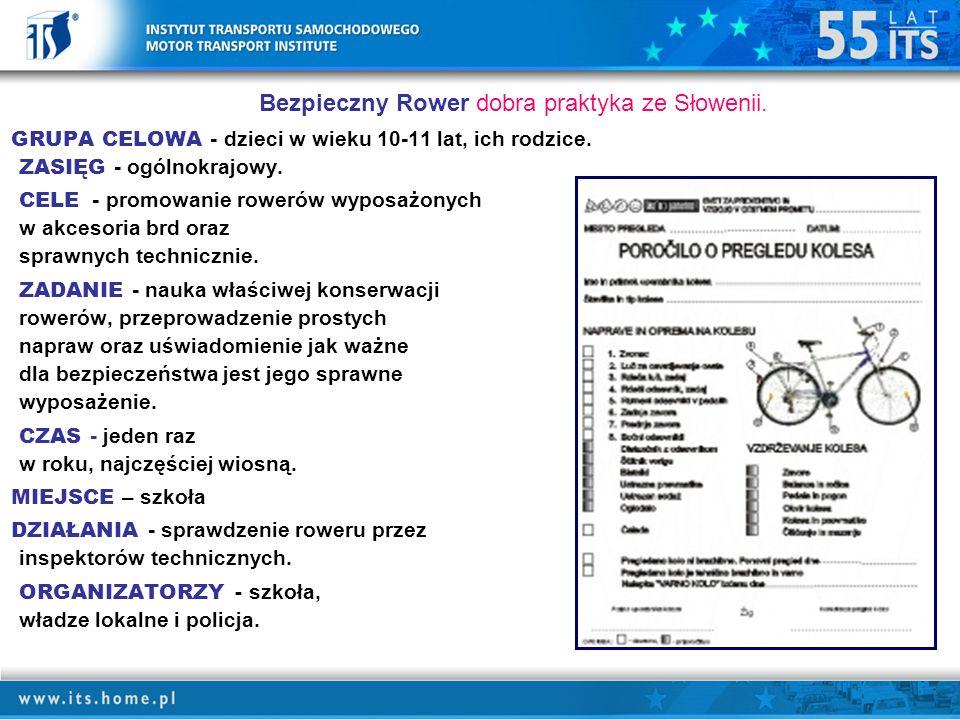 Bezpieczny Rower dobra praktyka ze Słowenii.