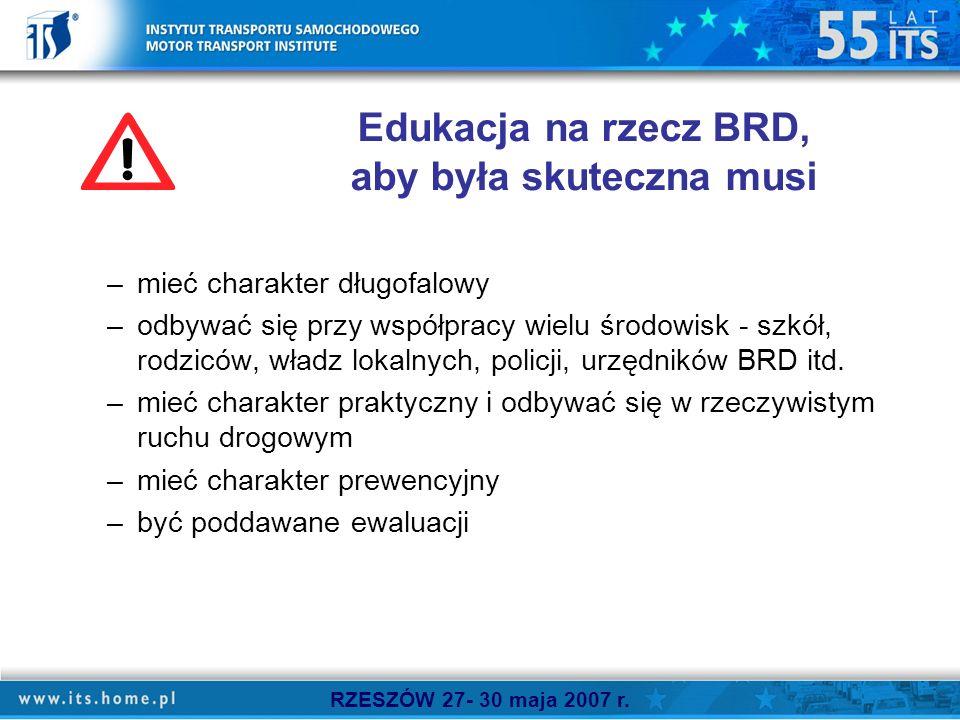 Edukacja na rzecz BRD, aby była skuteczna musi