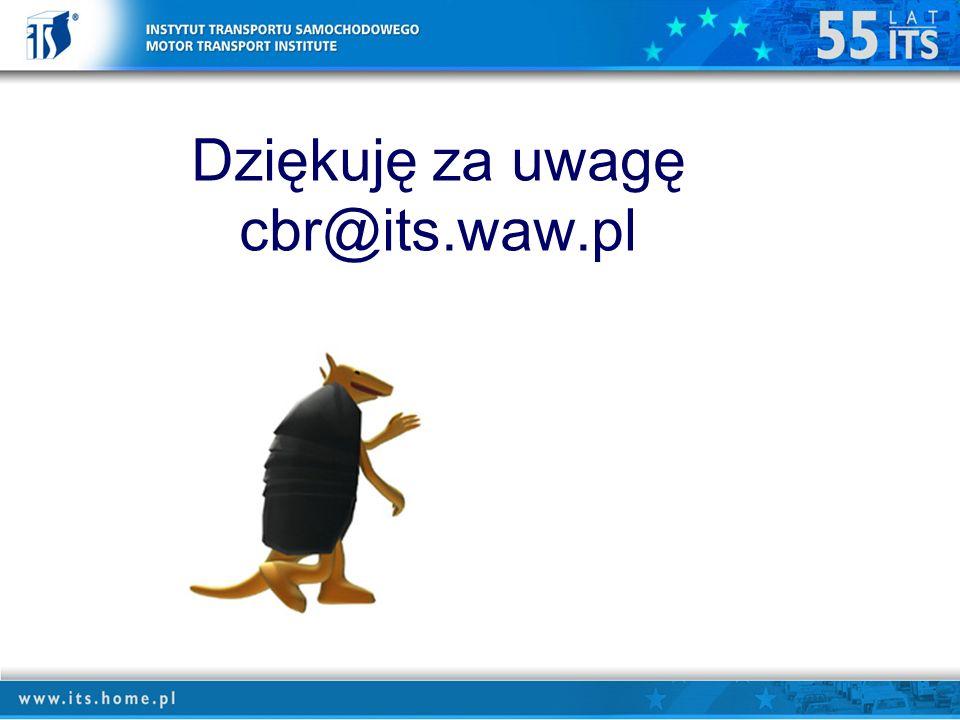 Dziękuję za uwagę cbr@its.waw.pl
