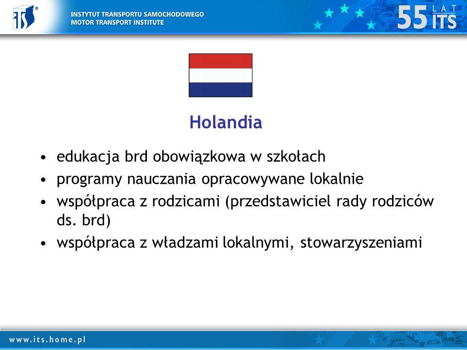 Holandia edukacja brd obowiązkowa w szkołach