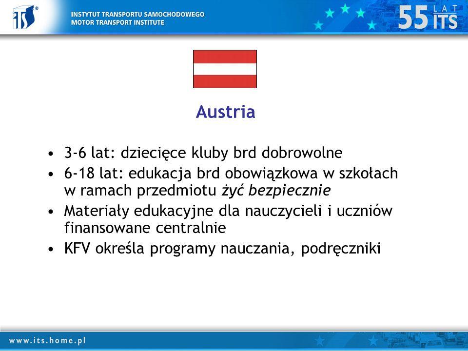 Austria 3-6 lat: dziecięce kluby brd dobrowolne