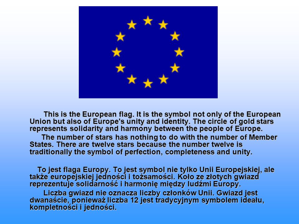 This is the European flag