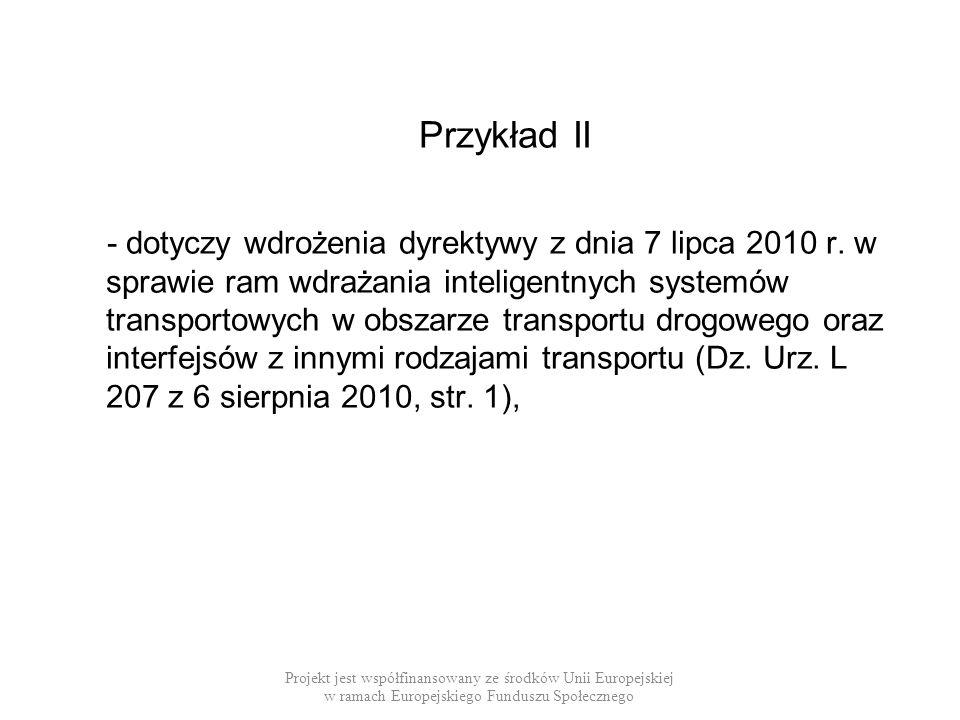 Przykład II