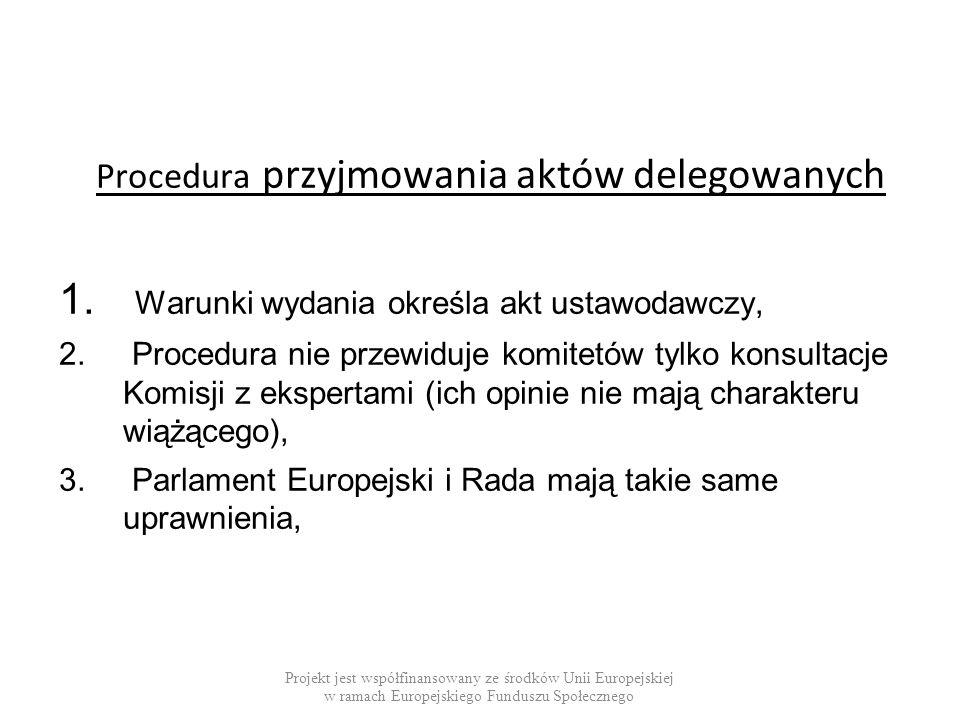 Procedura przyjmowania aktów delegowanych