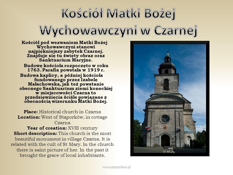 Kościół Matki Bożej Wychowawczyni w Czarnej