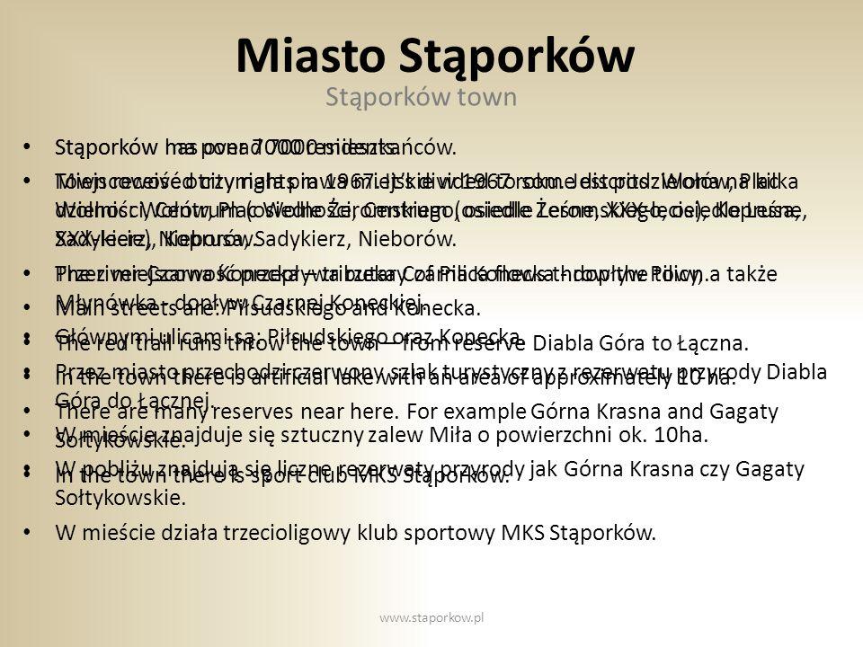 Miasto Stąporków Stąporków town Stąporków ma ponad 7000 mieszkańców.