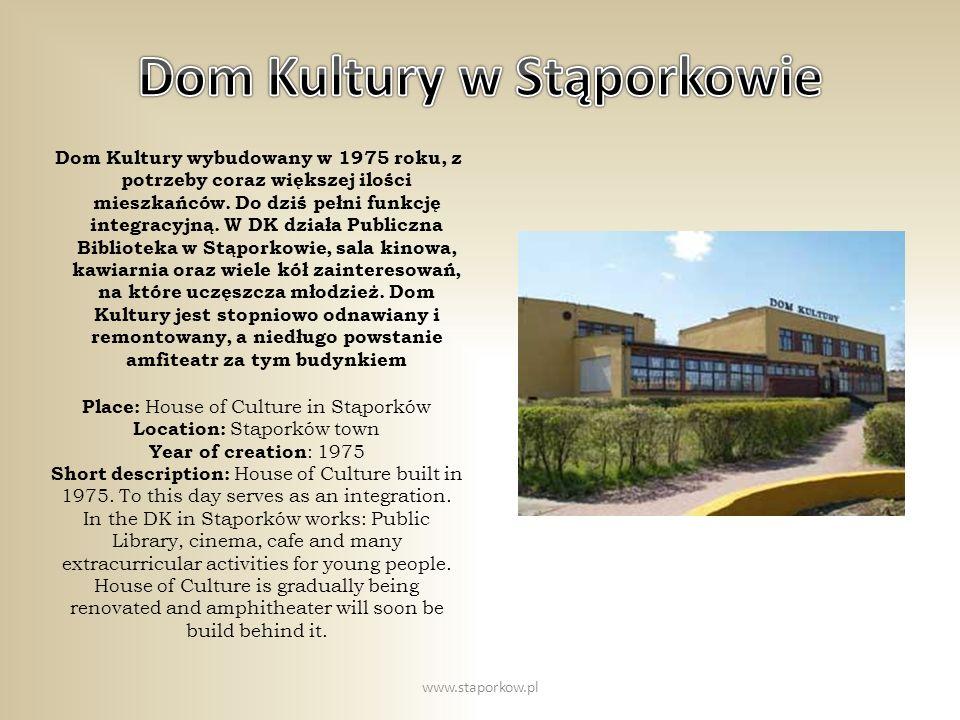Dom Kultury w Stąporkowie