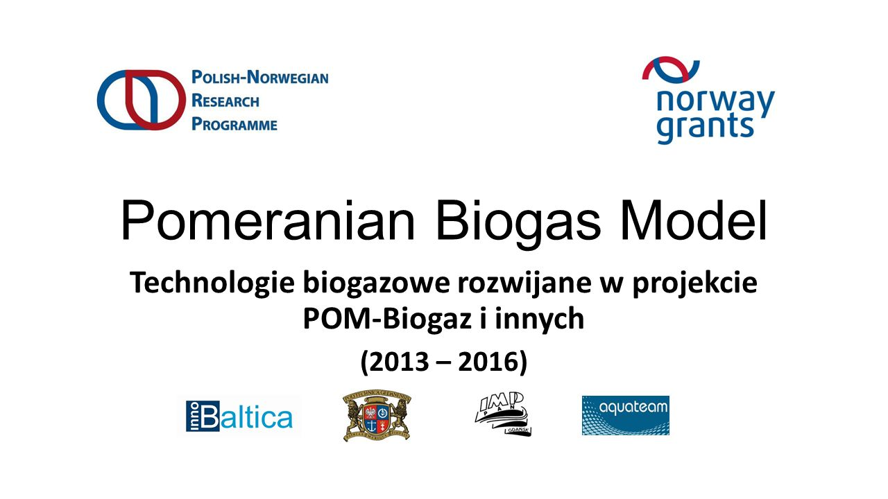 Pomeranian Biogas Model