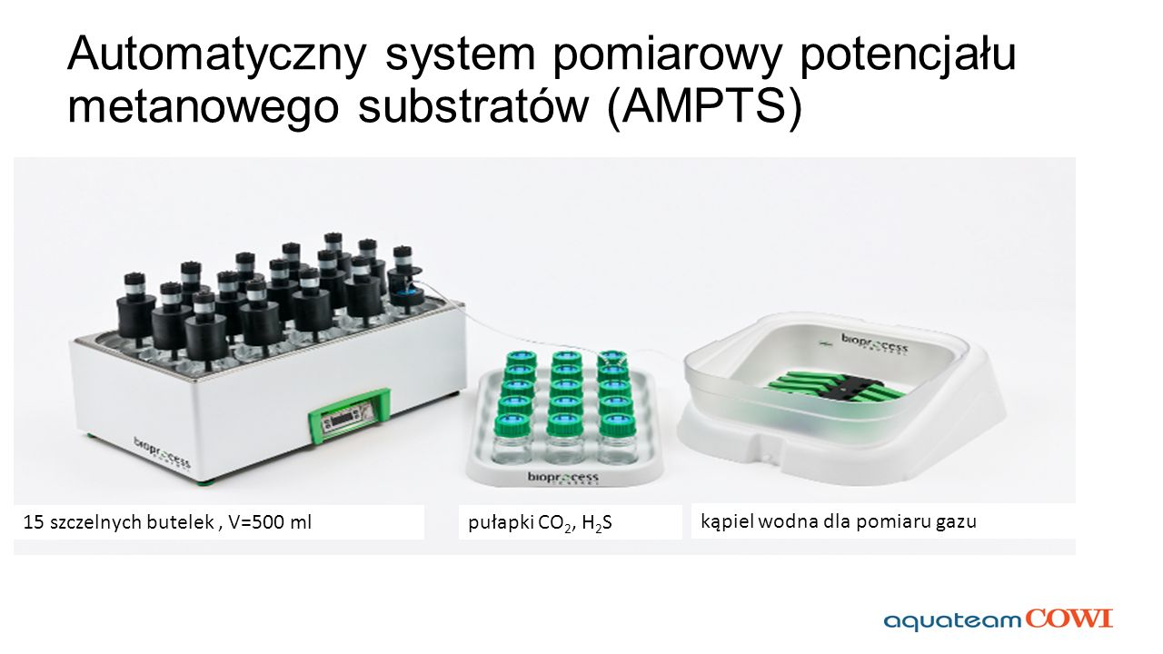 Automatyczny system pomiarowy potencjału metanowego substratów (AMPTS)