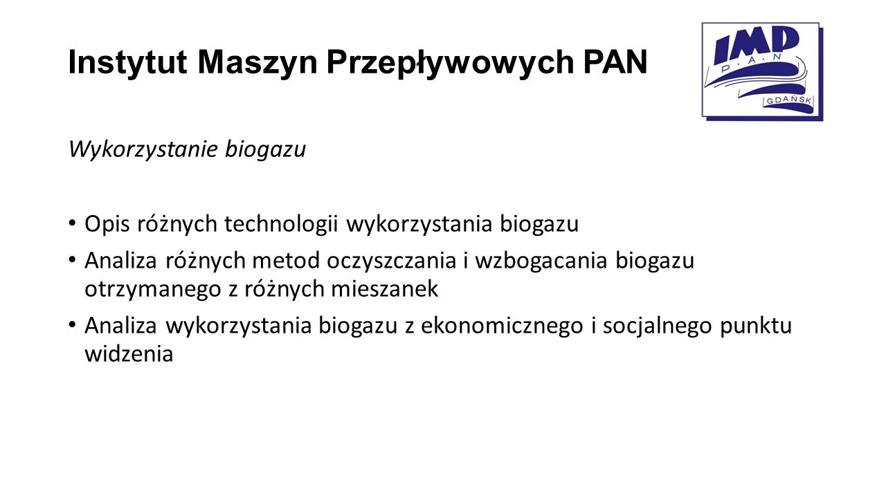 Instytut Maszyn Przepływowych PAN