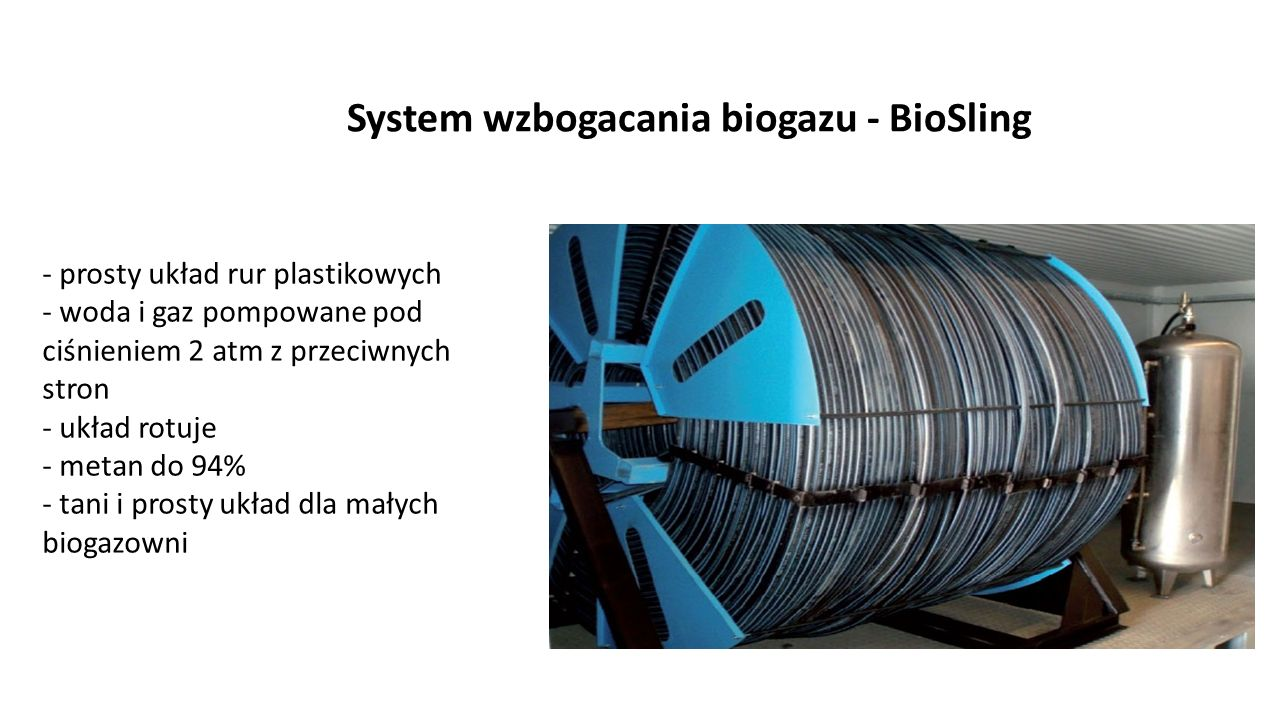 System wzbogacania biogazu - BioSling