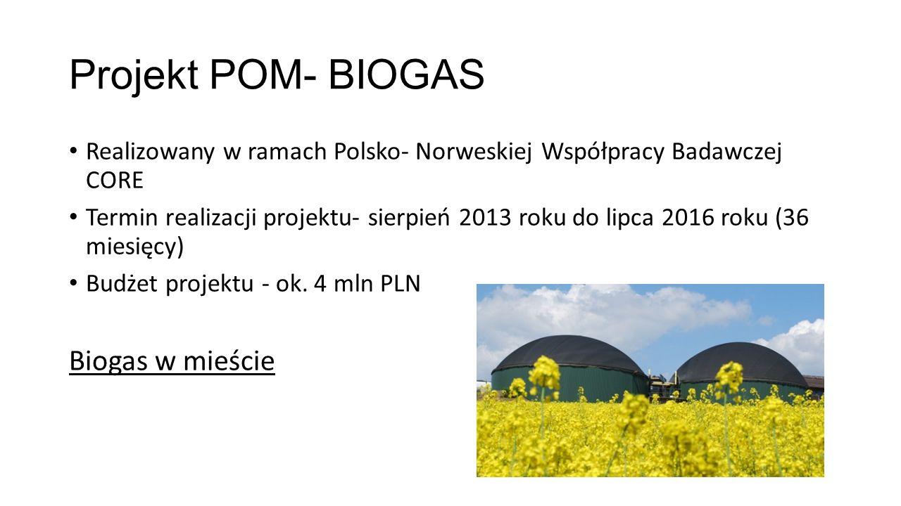 Projekt POM- BIOGAS Biogas w mieście