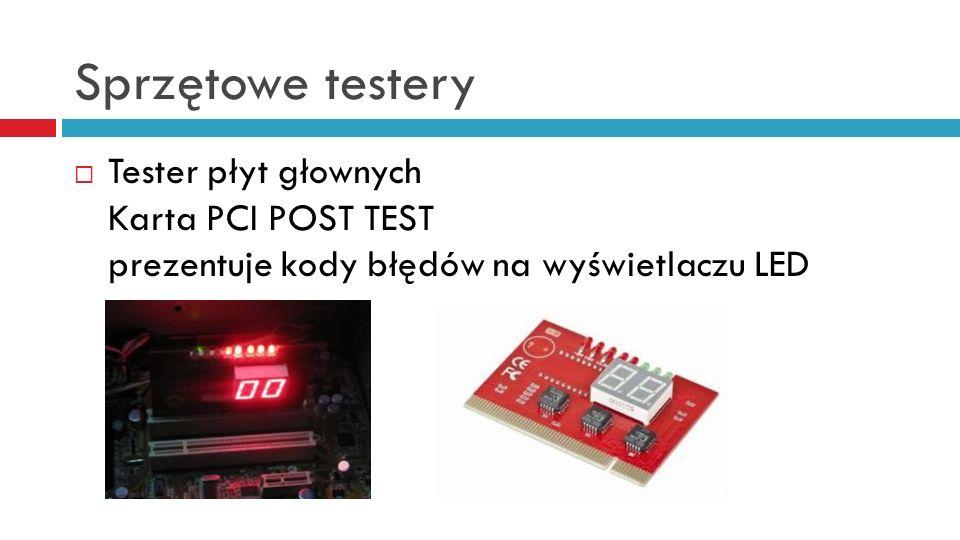 Sprzętowe testery Tester płyt głownych Karta PCI POST TEST prezentuje kody błędów na wyświetlaczu LED.