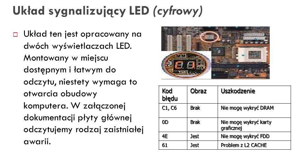 Układ sygnalizujący LED (cyfrowy)