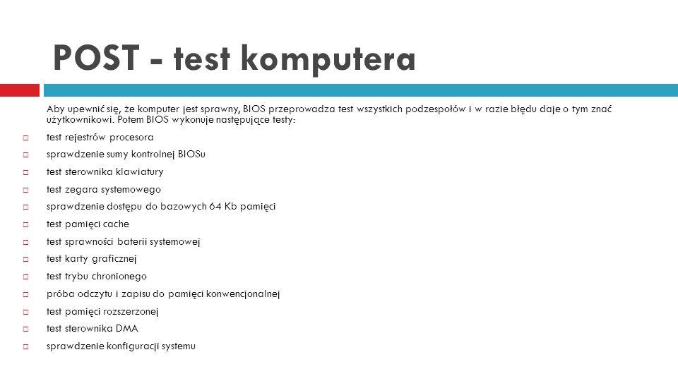 POST - test komputera