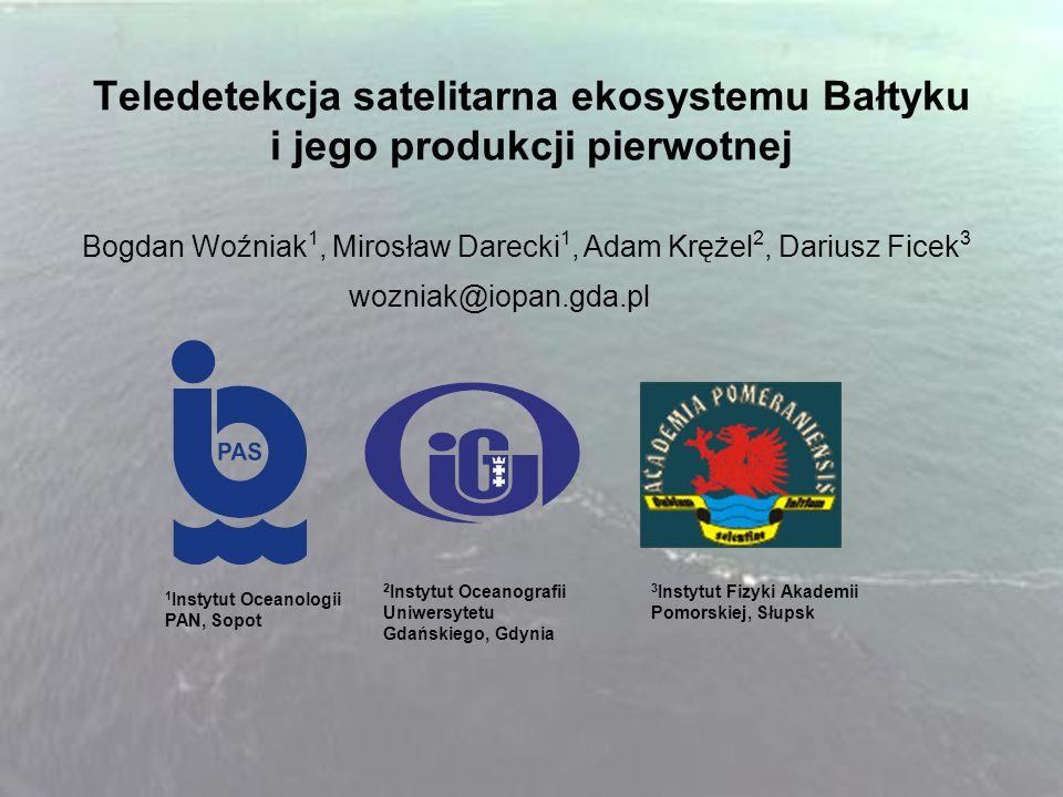 Teledetekcja satelitarna ekosystemu Bałtyku i jego produkcji pierwotnej
