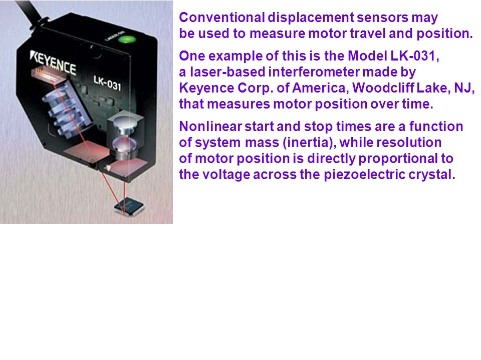 Conventional displacement sensors may
