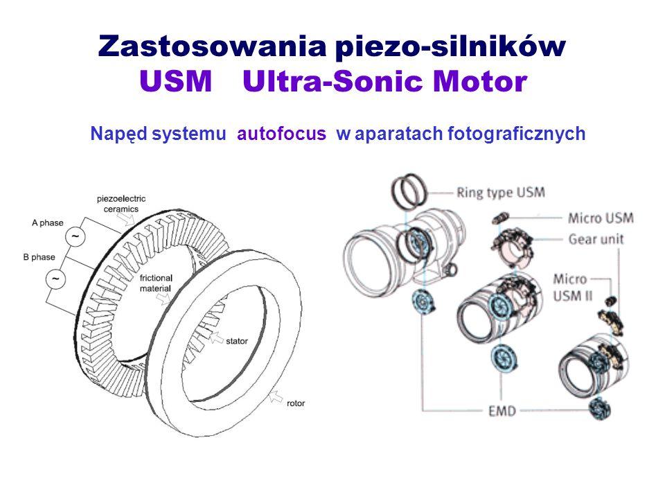 Zastosowania piezo-silników USM Ultra-Sonic Motor